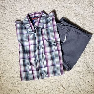 Wrangler George Strait Plaid Button Down Shirt